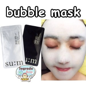 Máscara Facial Coreana Gaseificada SU:M37º Bright Award Bubble-De Mask 4,5ml