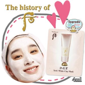 Máscara Facial Coreana Argila Branca Clareia Reduz Poros The History of Whoo Gongjinhyang Yeol White Clay Mask 4ml