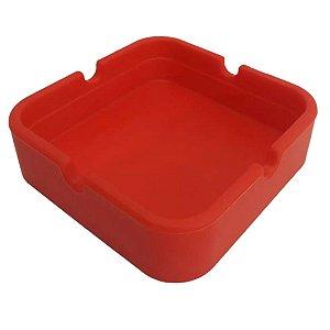 Cinzeiro Silicone Quadrado -  Vermelho