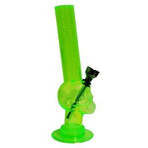 Bong Acrílico Pequeno Caveira - Verde