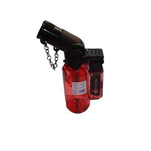 Isqueiro Mini Maçarico Recarregável - Vermelho