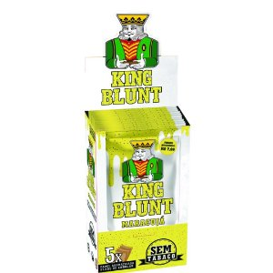 King Blunt Maracujá Sem Tabaco - Display 25un