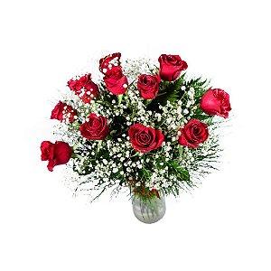 Buquê de Rosas Tradicional 1 Dúzia