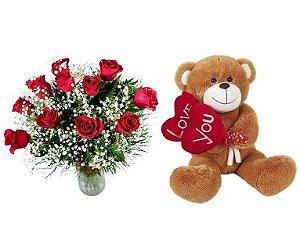 Rosas Vermelhas e Pelúcia