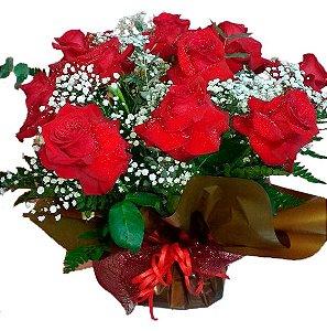 Buque 1dz rosas vermelhas importadas