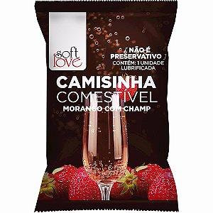 Camisinha Comestível Morango com Champanhe