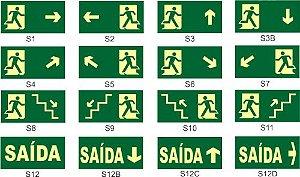 Saída De Emergência variadas S1-S2-S3-S4-S5 etc