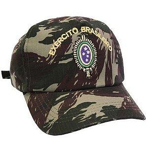 BONÉ CAMUFLADO BRASÃO EXERCITO BRASILEIRO