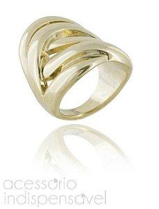 Anel Ropes Metal Dourado