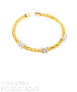 Pulseira Italian Butterfly Dourada