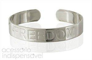 Pulseira Freedom Prateada e Dourada