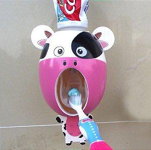 Dispenser animado para pasta de dente