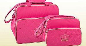 Conjunto de bolsa maternidade - Matelassê Pink