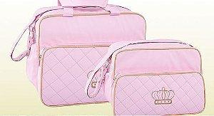 Conjunto de bolsa maternidade - Matelassê Rosa