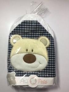 Toalha de banho forrada com capuz e bordada 70x80 - Cachorro