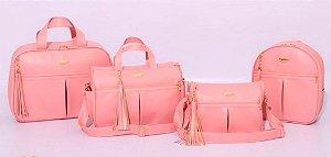 Conjunto de bolsas maternidade - Mamy Chic Rosê