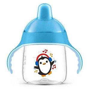 Copo Pinguim 260ml Azul - Avent