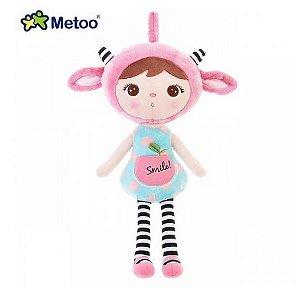 Boneca Metoo Jimbao Duende Sorriso Rosa - Metoo 46 cm