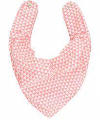 Babador bandana Forro impermeável Geométrico Rosa Coral