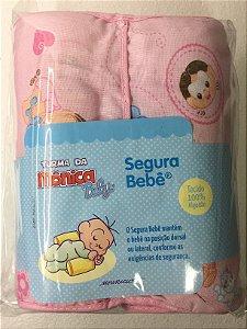 Posicionador antiqueda do bebê Turma da mônica rosa