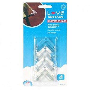 Protetor de canto de mesa e racks em silicone 4 peças