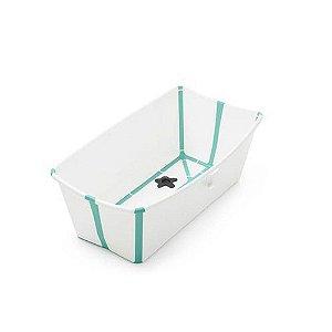 Banheira flexível Branca e Verde - Stokke