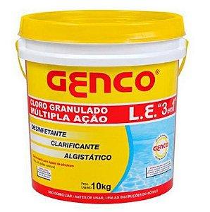 Genco Cloro Granulado 3 em 1 c/ 10 kg