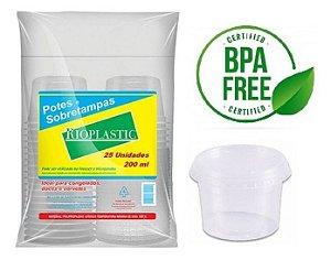 Rioplastic Potes e Tampas 200 ml c/ 25 un.