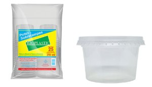 Rioplastic Potes e Tampas 250 ml c/ 25 un.