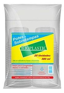 Rioplastic Potes e Sobretampas 380 ml c/ 25 un.