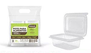 Rioplastic Potes Retangular 250 ml c/ 25 un.
