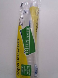 Rioplastic Copo Descartável Post Mix 250 ml
