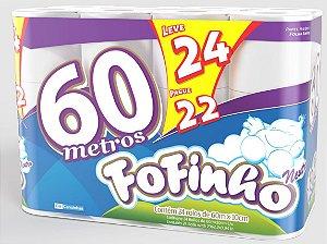 Fofinho Fardo Papel Higiênico Folha Simples 60 m c/ 24 rolos