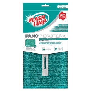 Flash Limp Pano Microfibra p/ chão c/ furo 50 x 60