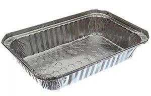 Life Clean Marmitex de Alumínio Bandeja 1150 ml c/ Tampa de CA c/ 100un
