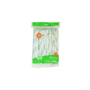 Cropac Canudo Mexedor Biodegradavel C/ 100 UN