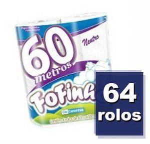Fofinho Papel Higiênico Folha Simples 60 m c/ 64 un.