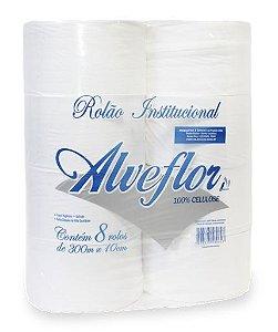 Alveflor Papel Higiênico Rolão 100% Celulose 8 x 300 m c/ 8 un.