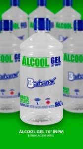 BARBAREX ALCOOL EM GEL 70° 1L