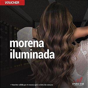 Mechas Morena Iluminada + Hidratação + Escova (Voucher)