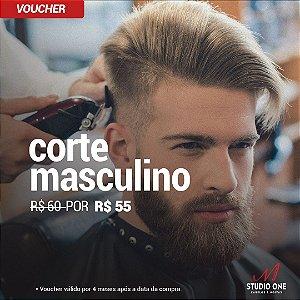 Corte Masculino na Barbearia Studio One (Voucher)