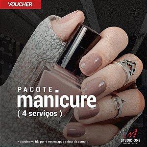 Pacote com 04 Manicures (Voucher)
