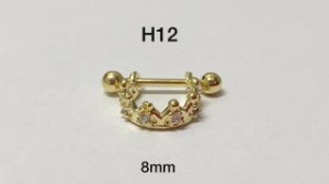 Hélix coroa folheado dourado 8mm