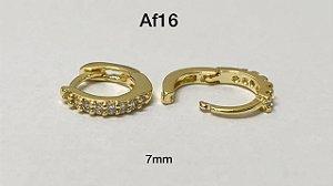 Argola clicker folheado dourado 7mm