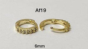 Argola clicker folheado dourado 6mm