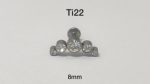 Cluster titânio 8mm
