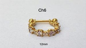Conch em prata dourado 925 12mm