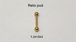 Reto aço pvd gold 10mm