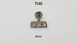 labret barra titanio 8mm