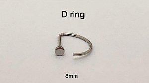 D-ring aço cirúrgico 8mm